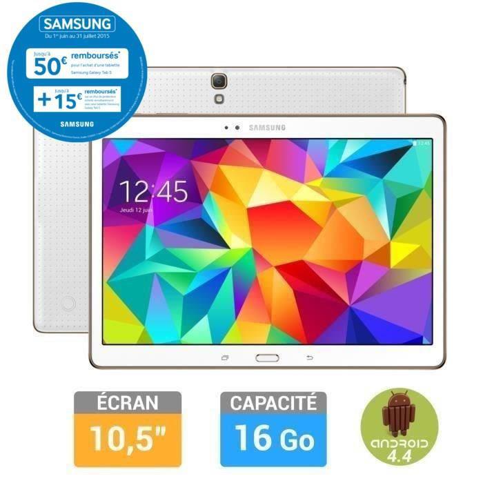 """Tablette 10"""" Samsung Galaxy Tab S 16 Go (50€ ODR)"""