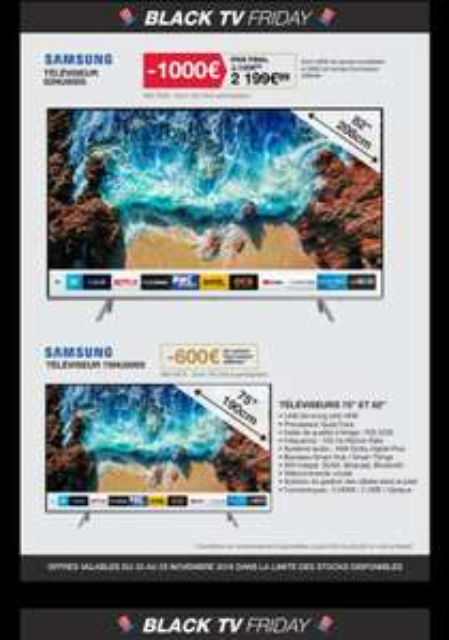 "[Carte Costco] TV 82"" Samsung 82NU8005 - 4k 100Hz"