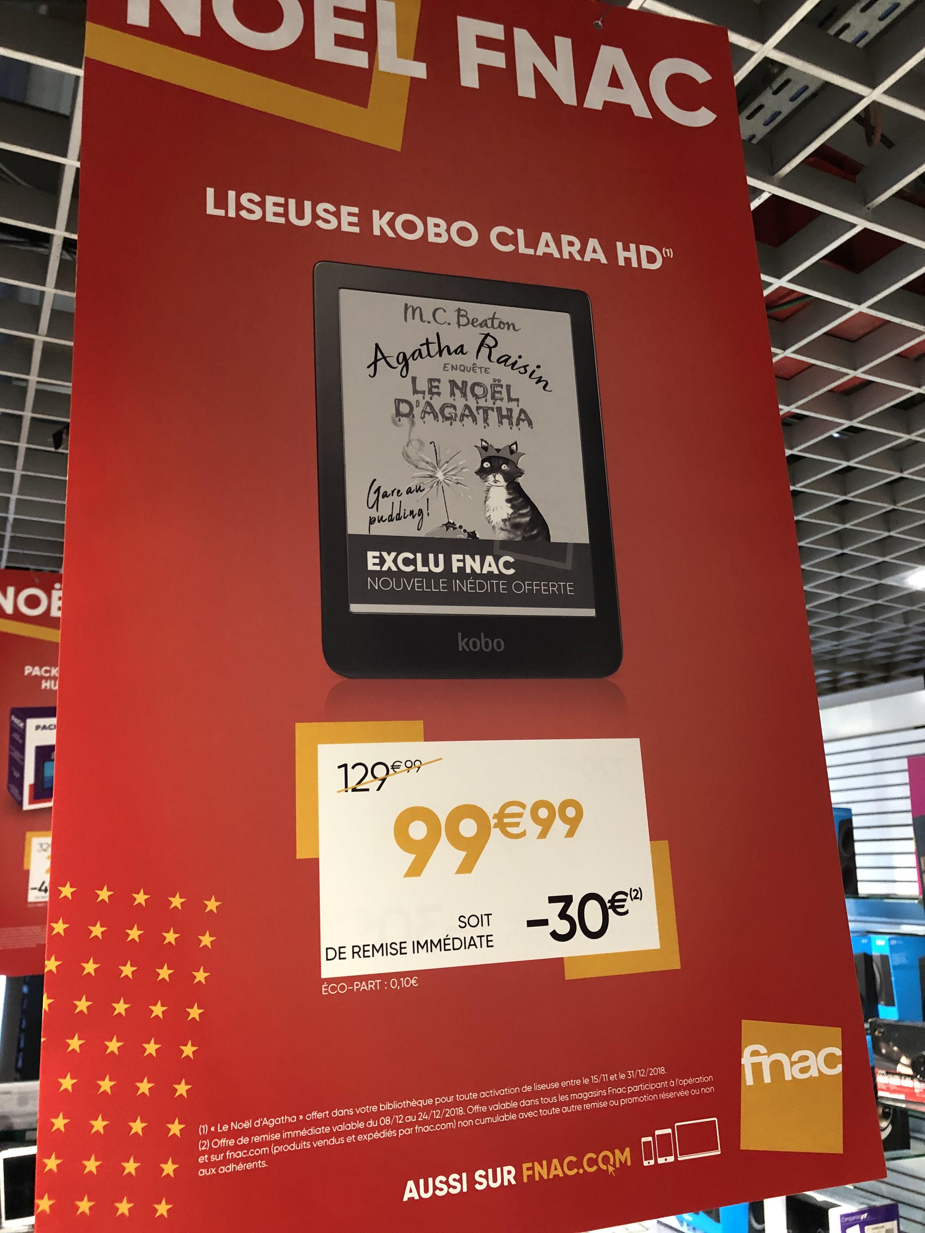 "Liseuse numérique tactile 6"" Kobo Clara HD 8Go"