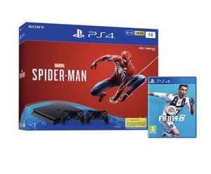Console Sony PS4 Slim 1 To + Spider-Man + FIFA 19 + 2ème Manette (Frontaliers Belgique)