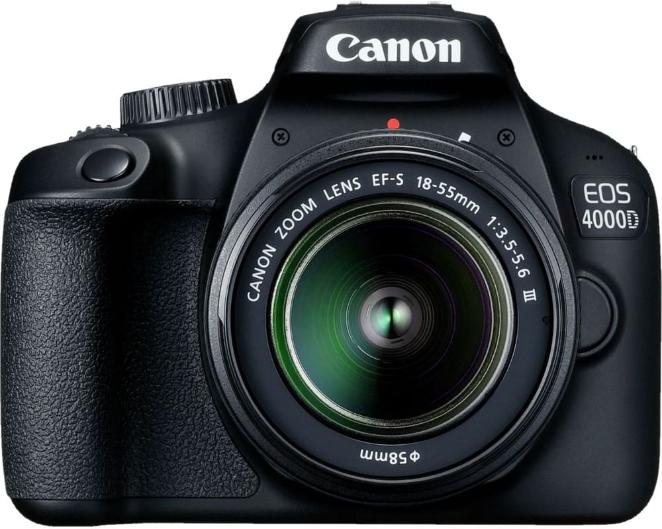 Kit Appareil Photo Numérique Canon EOS 4000D EF-S18-55mm III  SB-130 Bag Black + SD HC 16GB (Frontaliers Suisse)