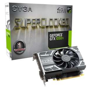 Carte graphique EVGA - GeForce GTX 1050 Ti SC Gaming 4 Go