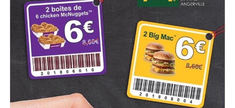 Sélection d'offres promotionnelles  - Ex : 2 boites de 6 nuggets à 6€ - Essonne (91)