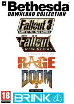 Bethesda Bundle: Fallout 3&4, Rage, Doom 3 et Brink (Jeux PC - Clés Steam)