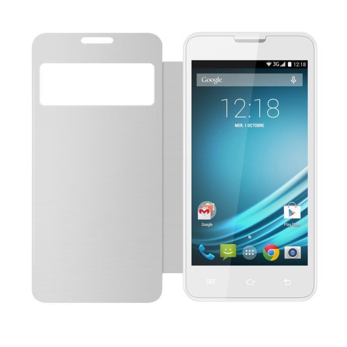 """Smartphone 5"""" Logicom L-Ement 500 Blanc + Housse"""