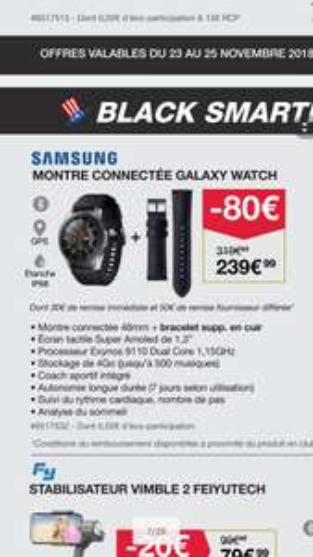 [Carte Costco] Montre Galaxy Watch 46 mm - (91)