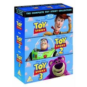 Toy Story + Toy Story 2 + Toy Story 3 - coffret 4 Blu-rays (voir infos audio en description)