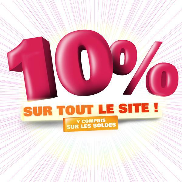 10% de remise sur tout le site