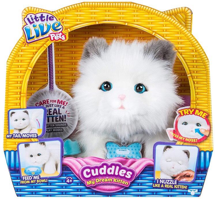 Chat intéractif Little Live Pets Cuddle Kitten (Via 26,73€ sur la Carte Fidélité)