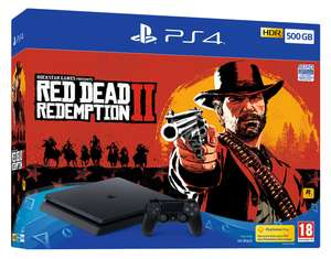 Console Sony PS4 Slim 500Go + Red Dead Redemption 2 + Hidden Agenda