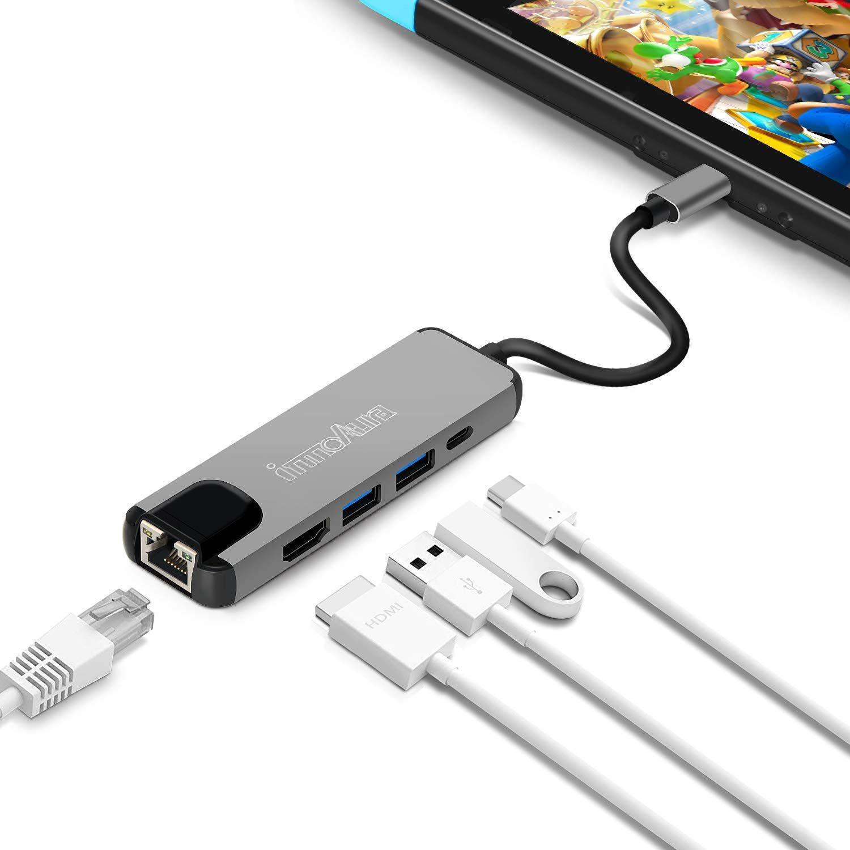 Adaptateur multiports USB C-Hub pour Nintendo Switch (vendeur tiers)