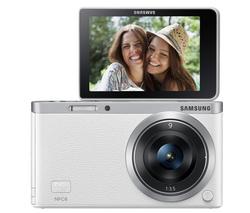 Appareil photo numérique Samsung NX Mini - Blanc + Objectif 9mm f/3.5