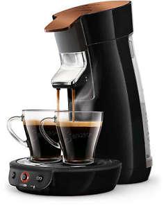 cafeti re dosettes 2 tasses cuivre philips senseo viva caf hd7836 91 noir. Black Bedroom Furniture Sets. Home Design Ideas