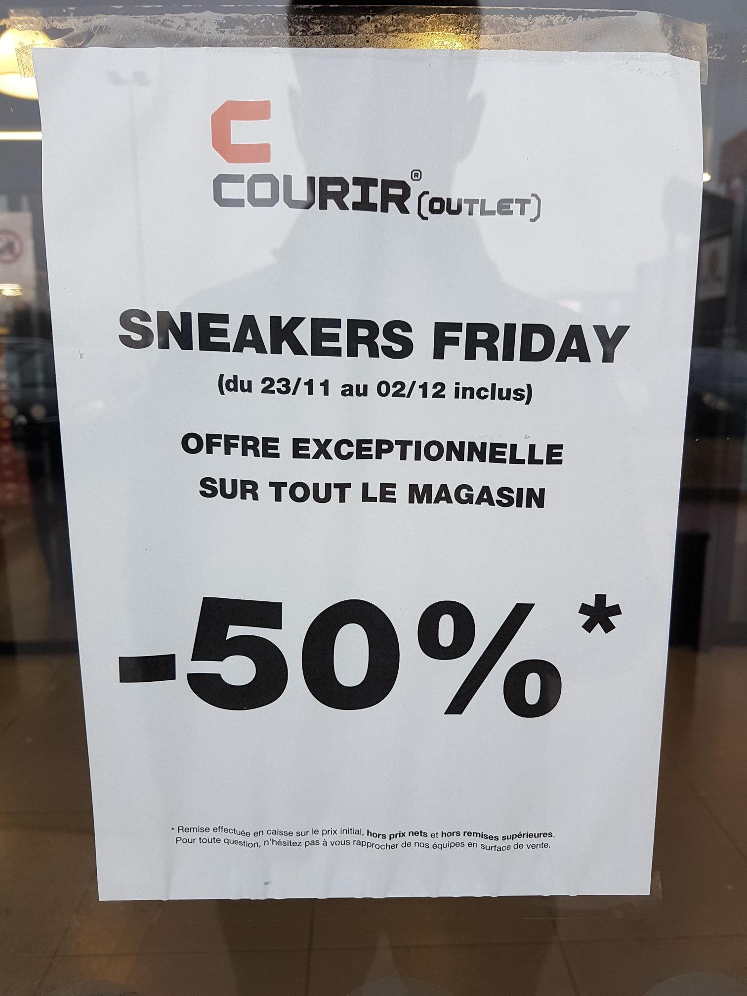 -50% sur tout le magasin Courir Outlet - Sainte Geneviève-des-Bois (91) / Pantin (93) / Gonesse (95)