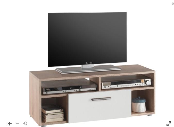 Meuble TV Booster - Chêne et blanc