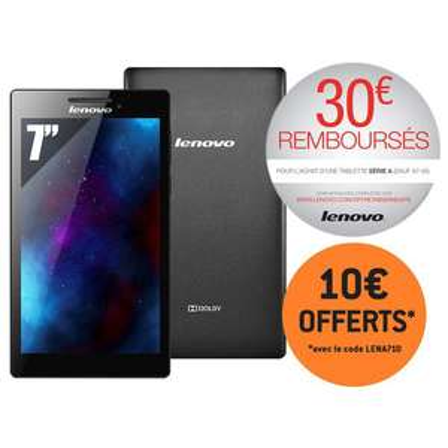 "Tablette 7"" Lenovo Tab 2 A7-10  8 Go - Noir (avec ODR 30€)"