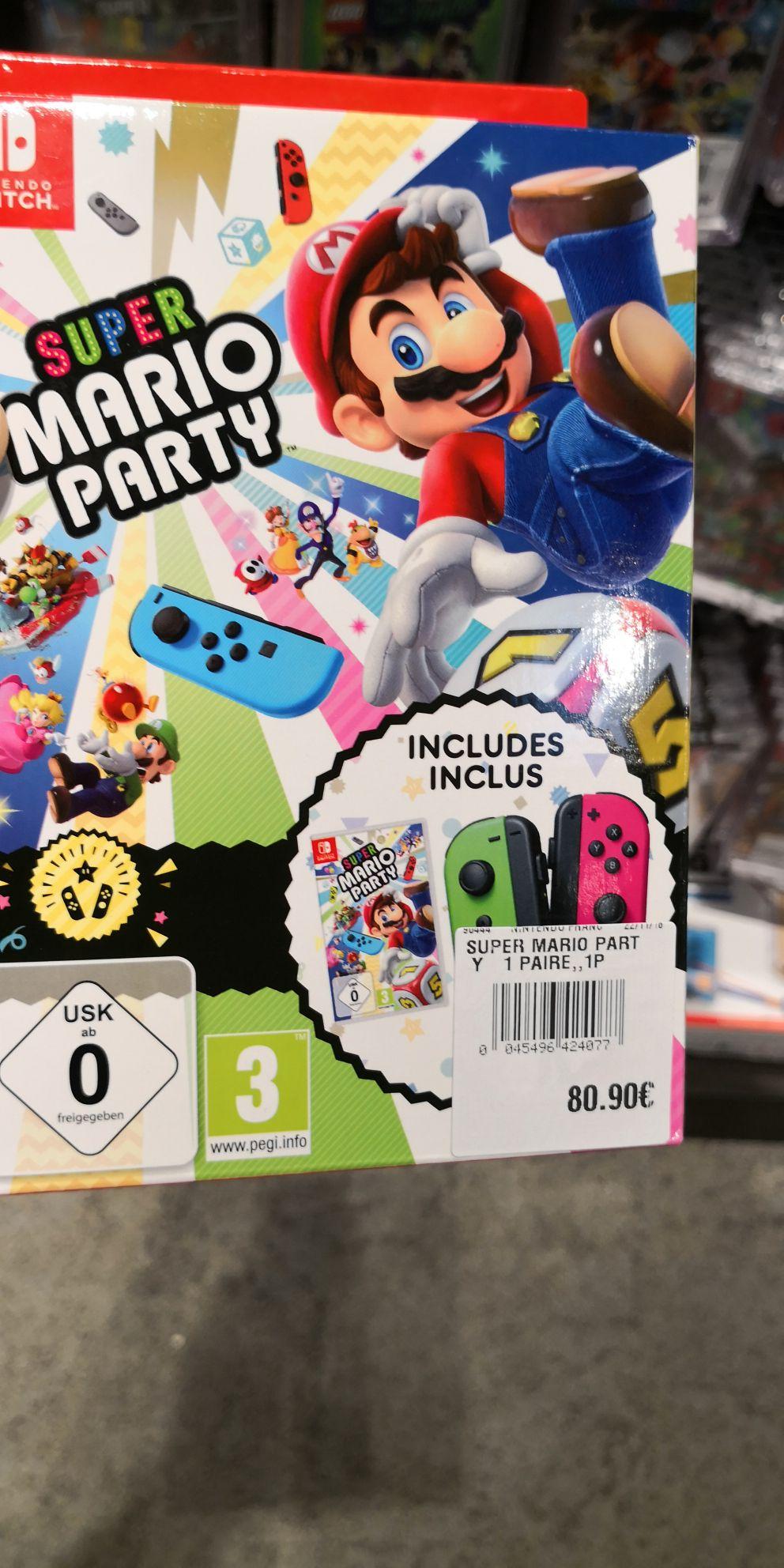 Super Mario Party Jeu Switch + 1 paire de Joy-Con Vert/néon et Rose/Néon