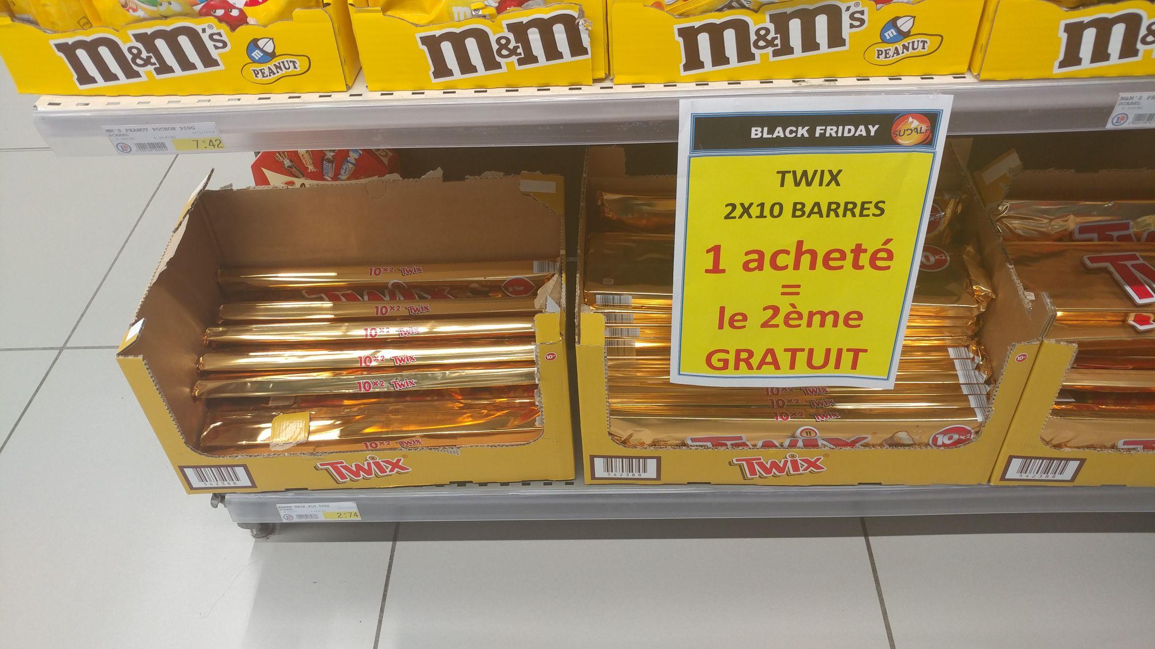 Lot de 2 x 10 Barres chocolatées Twix à Gap (05)