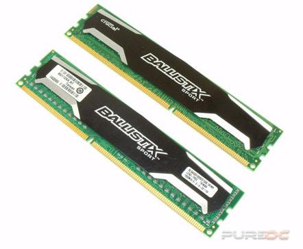 Mémoire DDR3 Crucial Ballistix - Elite 2x8Go 1866 MHz à 119.92€, Sport XT 2x8Go 1600 MHz à 109.95€, Sport 2x4Go 1600 MHz