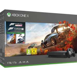 Console Microsoft Xbox One X 1 To + Forza Horizon 4 + Forza Motorsport 7 (Frontaliers Suisse)