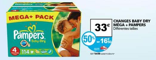 5 MEGA+ Pack Pampers Baby dry