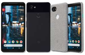"Smartphone 6"" Google Pixel 2 XL QHD OLED - 4G+ - 64 Go - Android 9.0 + Cover tissu"