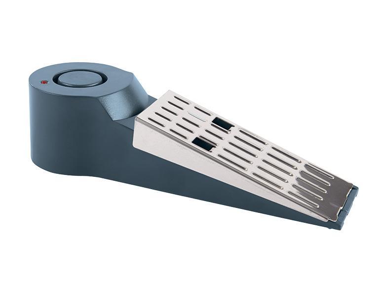 Cale-porte avec alarme ou détecteur d'ouverture (au choix)