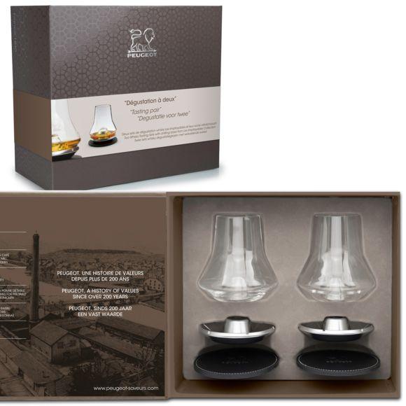 Coffret Noël Dégustation Whisky - 2 verres - Peugeot