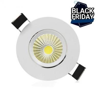 VISION-EL Spot LED encastrable et orientable 38° 230V 7W 600lm 3000°K blanc - 7633