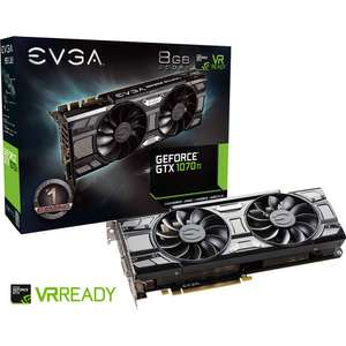 Carte graphique EVGA GeForce GTX 1070 Ti SC Gaming HDMI 3xDP -  8Go