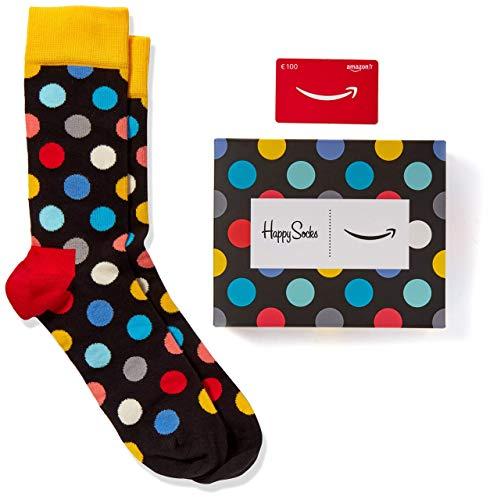Paire de Chaussettes Happy Socks (Taille Unique) + Carte cadeau Amazon de 100€