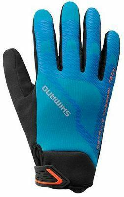 Gants Velo Hiver Shimano Windbreak (Bleu taille 10/XL)