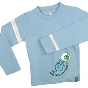 Divers produits 100% coton biologique et équitable en promo - Ex : T shirt enfant à manches longues