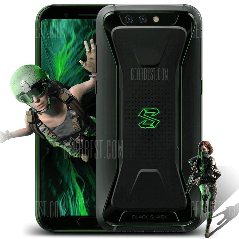 "Smartphone 5.99"" Xiaomi Black Shark (Global) - Full HD+, SnapDragon 845, 8 Go de RAM, 128 Go, noir"