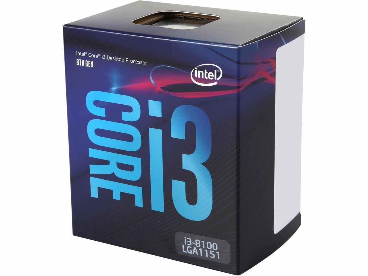 Intel Core i3-8100 Coffee Lake Quad-Core 3.6 GHz LGA 1151 (100€ via le code NEWEGG2018FRA)