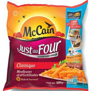 """3 paquets de frites surgelés Mc Cain """"Juste au four"""" 600g"""