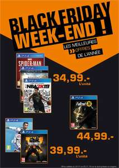 Sélection de jeux Xbox One ou PS4 - Ex: Spiderman sur PS4 (Frontaliers Luxembourg)