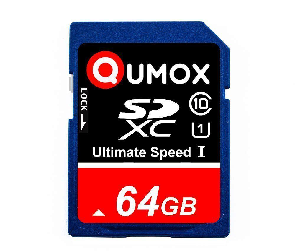 Carte SDXC Qumox 64Go Class 10 UHS-I 80 MB/s