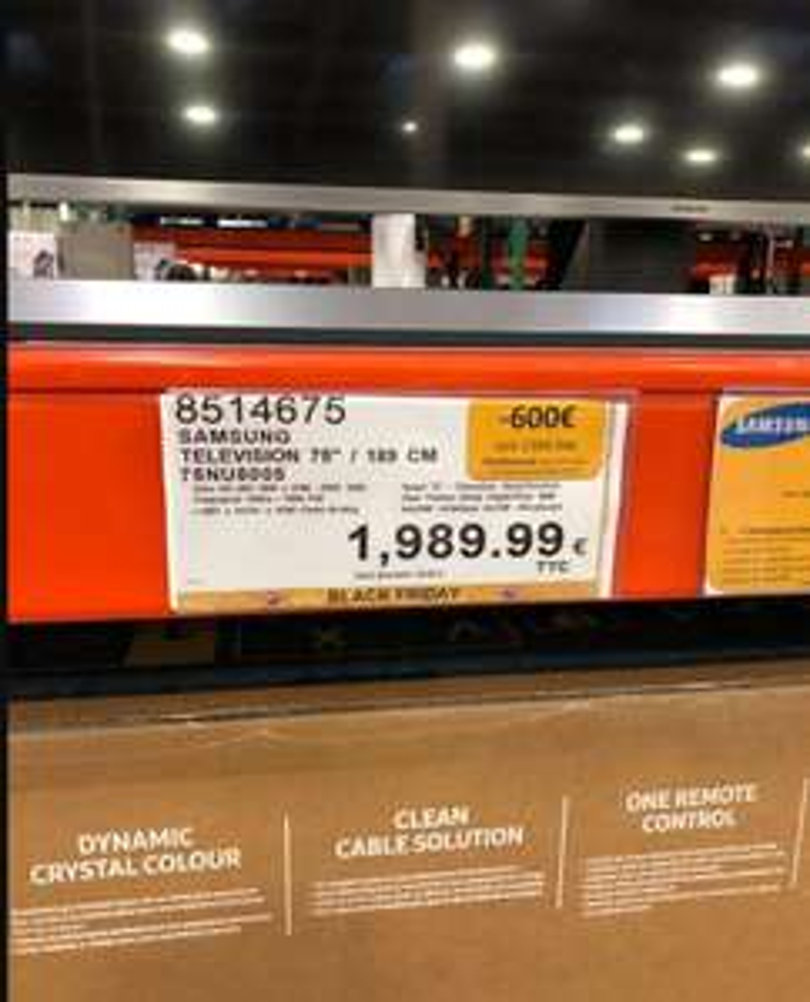 "[Carte Costco] TV 75"" Samsung 75NU8005 - Ultra HD - HDR 1000 - 100Hz (via ODR 600€) - Villebon sur Yvette (91)"