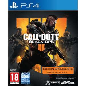 Jeu Call Of Duty Black Ops IIII : Specialist Edition sur PS4