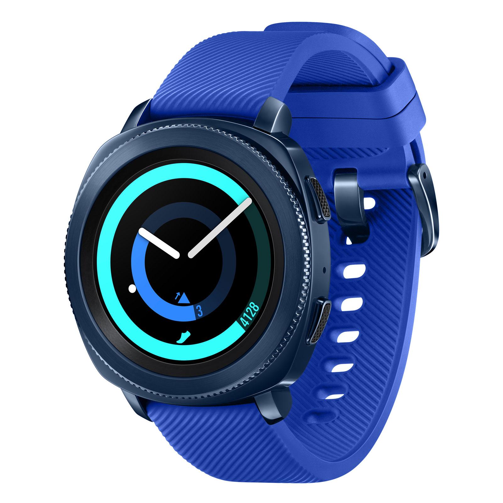 Montre connectée Samsung Gear Sport - Bleue (119,99€ pour les nouveaux clients avec le code BLCKFRD30)