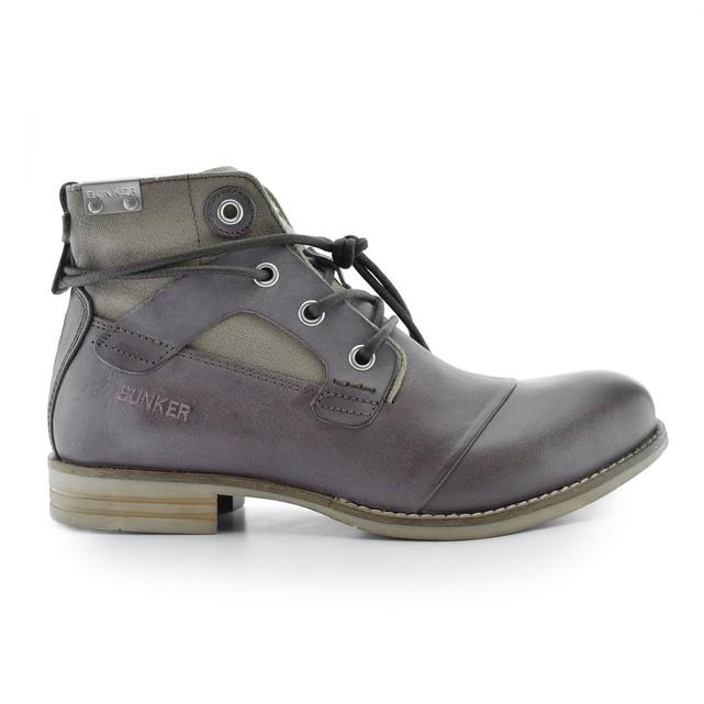 Boots cuir à lacets Bunker Yon - Marron
