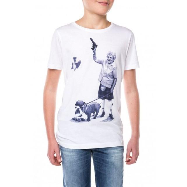 T-Shirt Teddy Smith Tigeon MC JR - taille 8 ans, blanc (vendeur tiers)