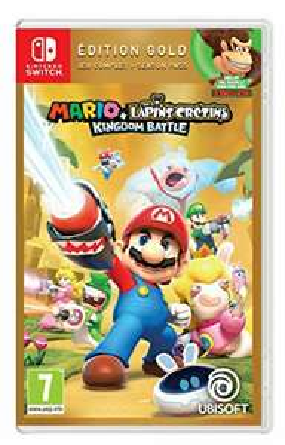 Jeu Mario + The Lapins Crétins Kingdom Battle Gold Edition sur Nitendo Switch (Dématérialisé - Via Store Console)