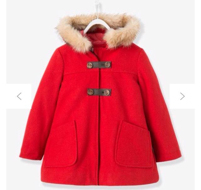 Manteau fille en drap de laine (Plusieurs coloris)