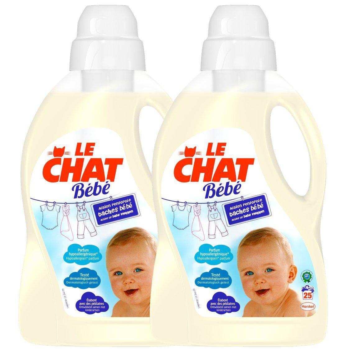 [Membres Premium] 2 Bidons de Lessive Le Chat bébé - 1.5Lx2