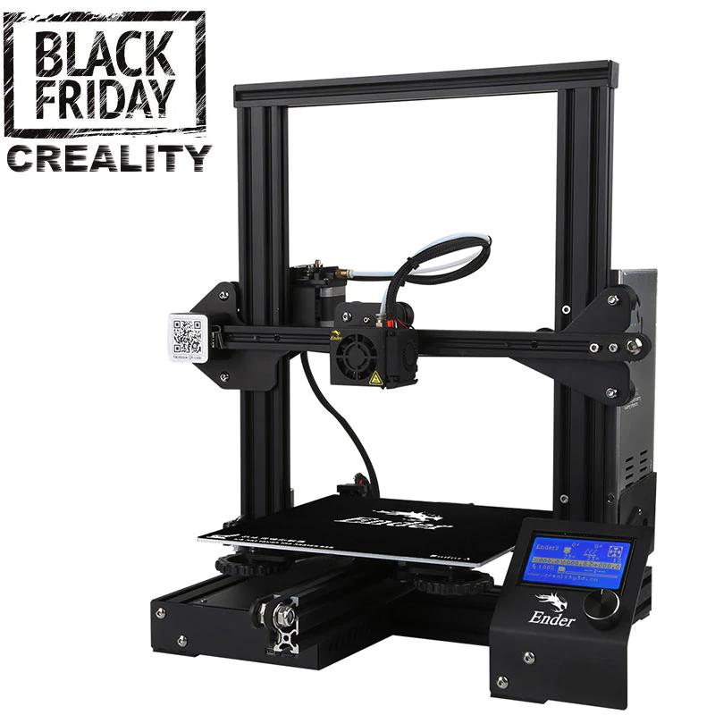 Imprimante 3D Ender 3X avec buses et plateau en verre (Via application)