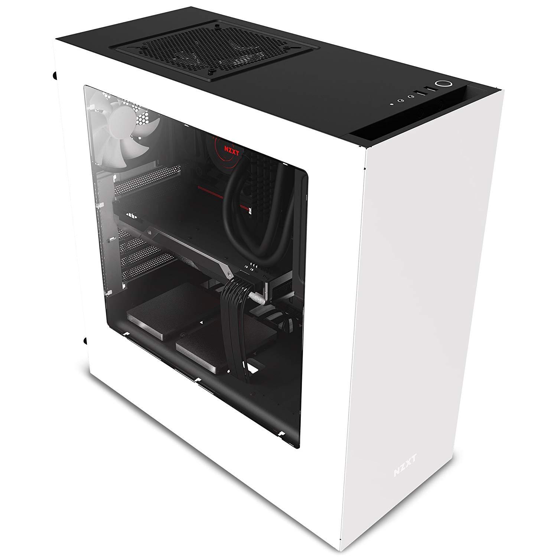 """Boitier PC NZXT Source 340 - Blanc ou noir et rouge (et version """"Elite"""" Noir & Rouge à 76.46€)"""