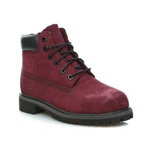 Bottines en cuir Timberland 6 in premium wp  - bordeaux, taile 30.5 à 34