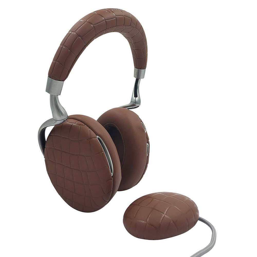 Casque Bluetooth Parrot Zik 3 - Brun Croco + Chargeur